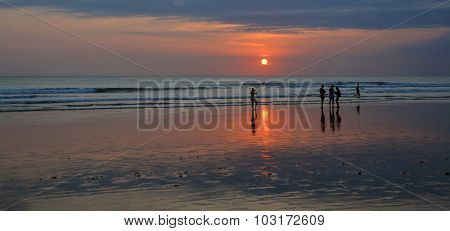 Last Photo Of The Day On Legian Beach, Bali