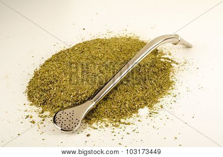 Mate Herb With Drinking Straw