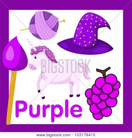 Illustrator of Purple color
