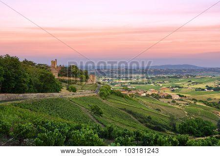 After The Sunset, Montmelas Castle, Beaujolais, France
