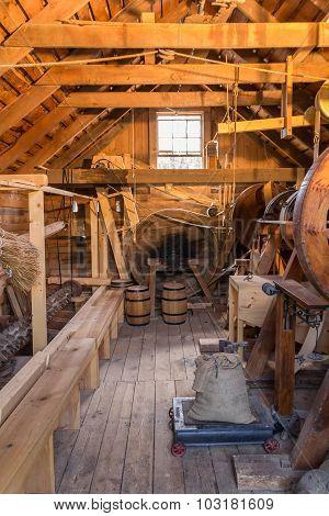 Inside grist mill