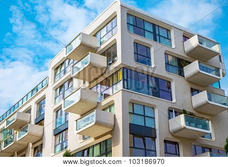 New apartment building in Hamburg