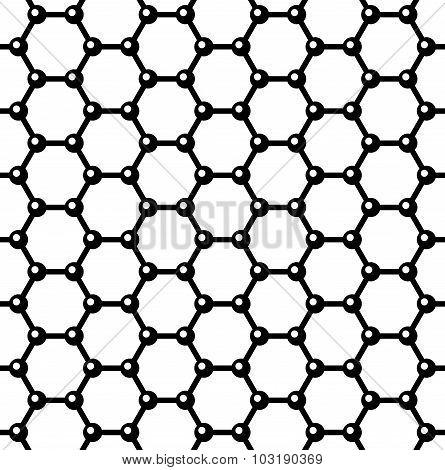 Graphene Seamless Pattern. Vector