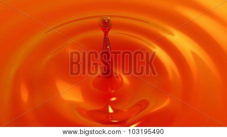 Drop Of Tea Macro With The Focus Effect (drop 1)