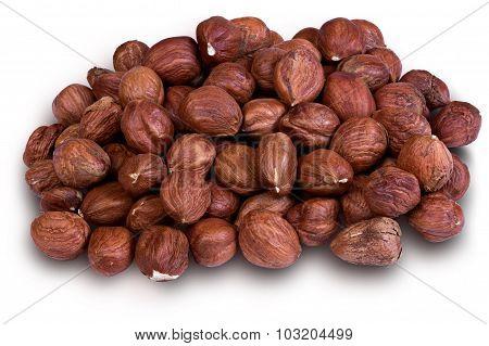 Hazelnuts In A Wooden Bowl