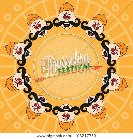 Dussehra festival lettering for your greeting card design poster