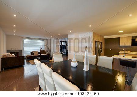 Interior design: Modern dining room