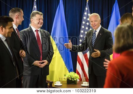 Petro Poroshenko And Joe Biden