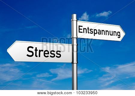 Street signs with German words
