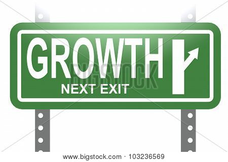 Growth Green Sign Board Isolated