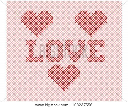 Love Knitting Cute Illustration