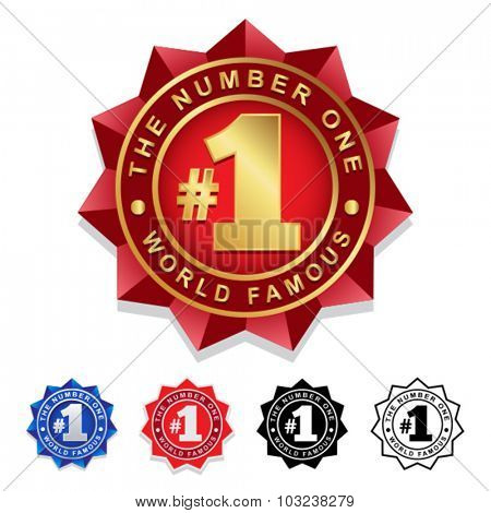 The Number One #1 Seal Badge