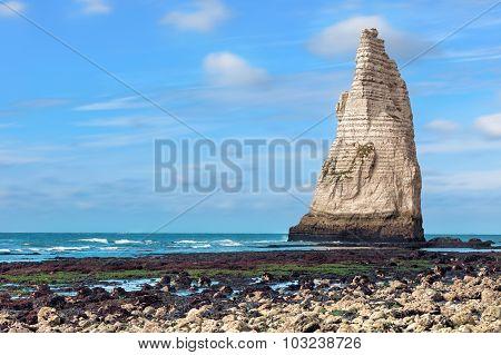 Etretat famouse rock in the ocean