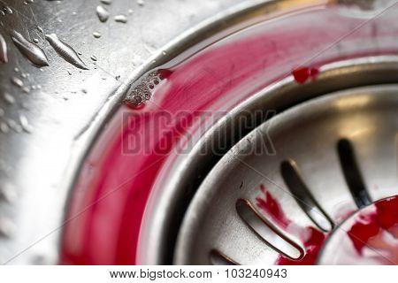 Human Blood In A Chrome Bath