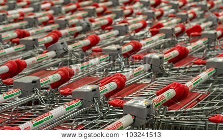 Ashan Shopping Trolleys Russia