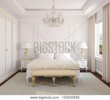 Classic Bedroom Interior.