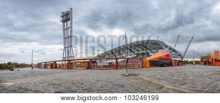 Jeju-do, Korea - April 13, 2015: 2002 World Cup Stadium In Jeju Island.