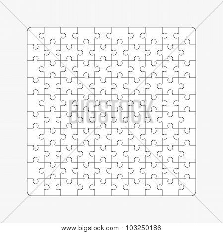 Jigsaw Puzzle, One Hundred Blank Shapes