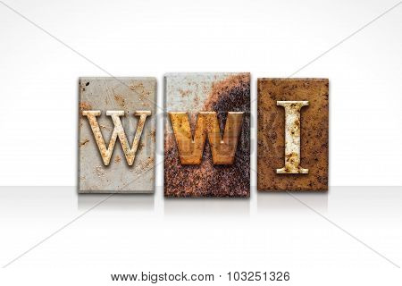 Wwi Letterpress Concept Isolated On White