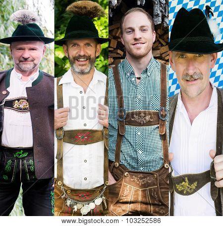 Group Of Bavarian Men