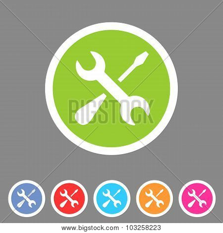 Repair icon flat web sign symbol logo label poster