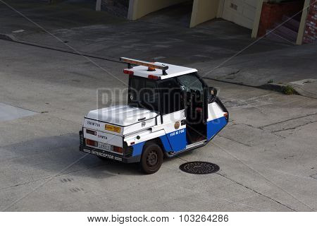 Sfmta Parking Enforcement Interceptor Parked In Street