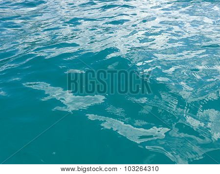 Shades Of Turquoise Blue Ocean Water Ripples Off The Windward Coast Of Oahu