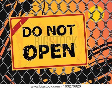 Text Do Not Open