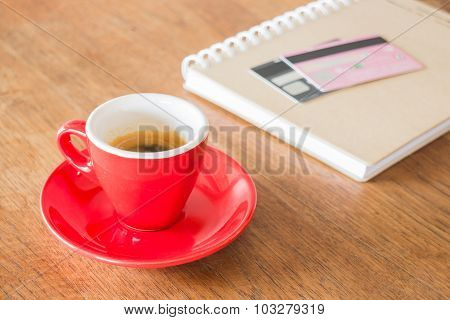 Coffee Break On Business Work Table