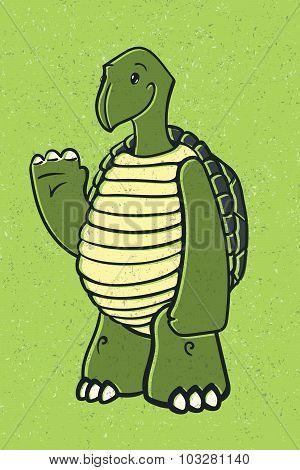 Happy Friendly Turtle