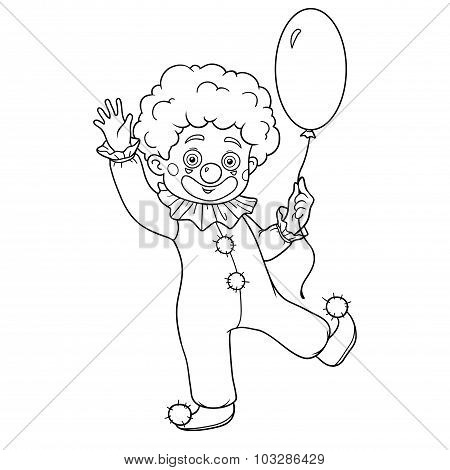 Coloring Book For Children: Halloween Characters (clown)