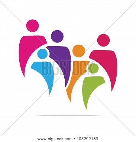 Logo Abstract family children's
