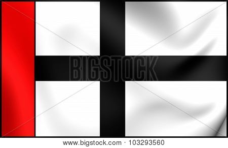 Flag Of Konstanz City (baden-wurttemberg), Germany.