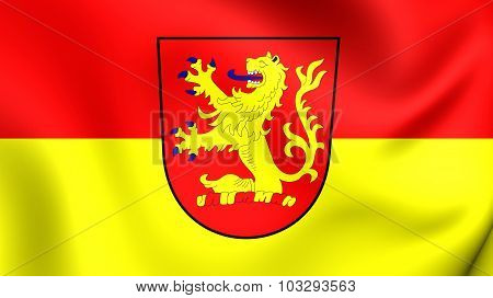 Flag Of Langenhagen City (lower Saxony), Germany.