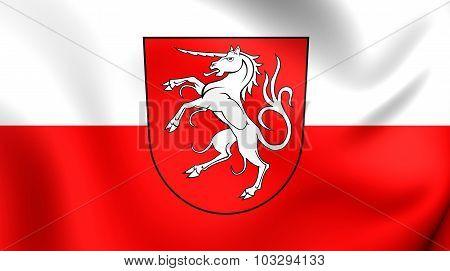 Flag Of Schwabisch Gmund City (baden-wurttemberg), Germany.