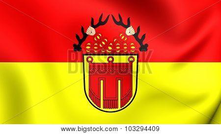 Flag Of Tubingen City (baden-wurttemberg), Germany.