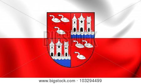 Flag Of Zwickau City (saxony), Germany.