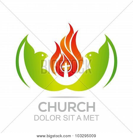 Logo church fire