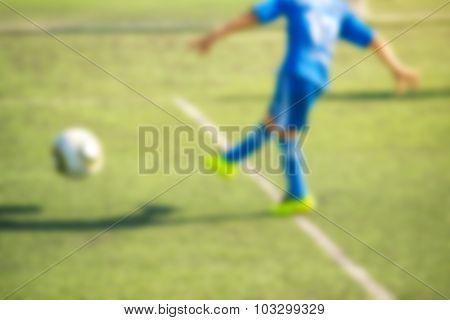 Kids Playing Soccer, Penalty Kick