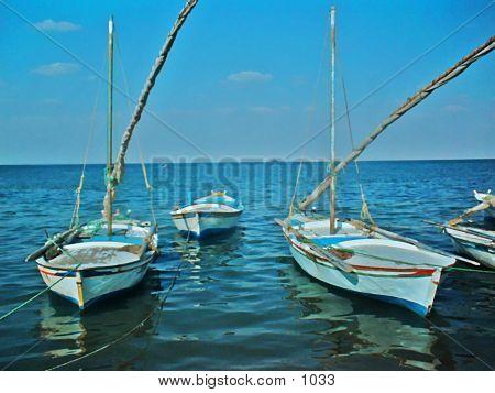 Watercolor Boats