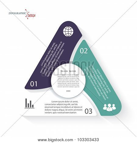 Triangle Infographic Vector Template Can Be Used For Presentation,  Chart, Web Design, Numbers