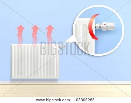Realistic Radiator Illustration