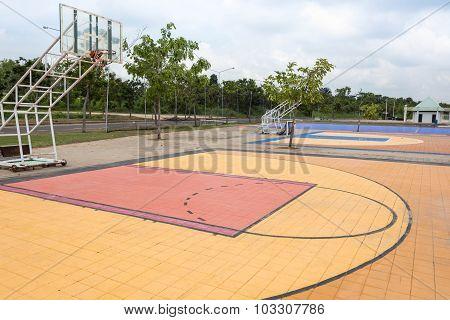 Outdoor Street Basketball Court.