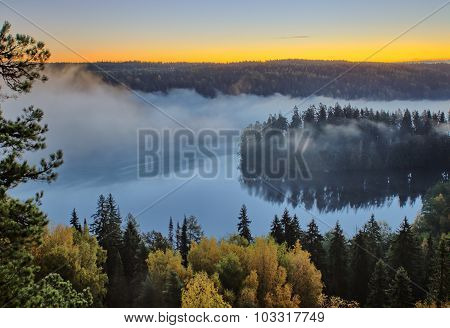 Autumn Landscape In The Morning