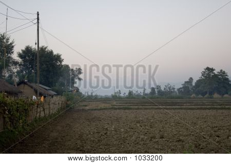 Village Near The Chitwan Jungle