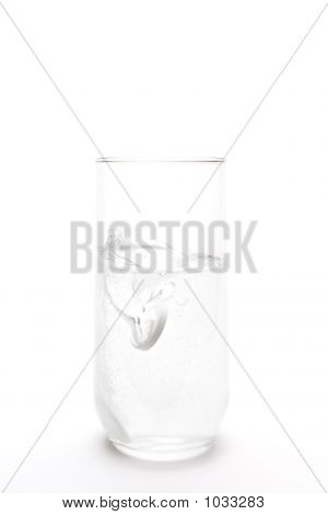 Aspirin Splash In Water Glass