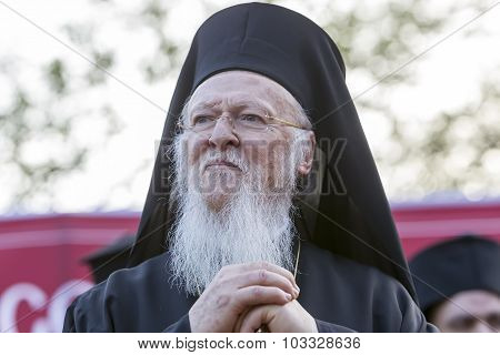 Ecumenical Patriarch Bartholomew Visits Serres At The Church Of St. Theodore, Which Will Perform A M