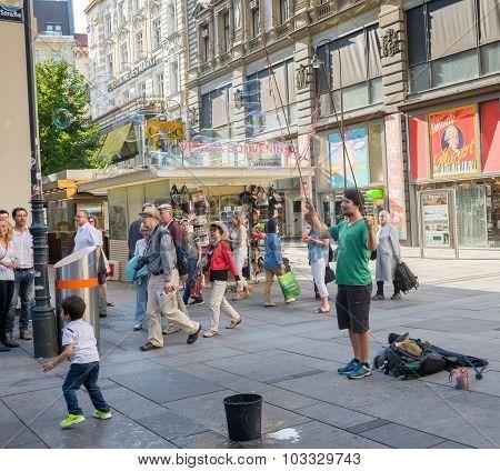 Busker In  Vienna