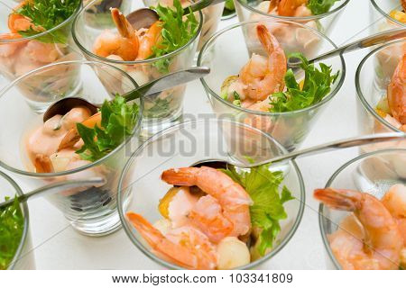 Sweet And Sour Shrimp, Prawn Cocktail