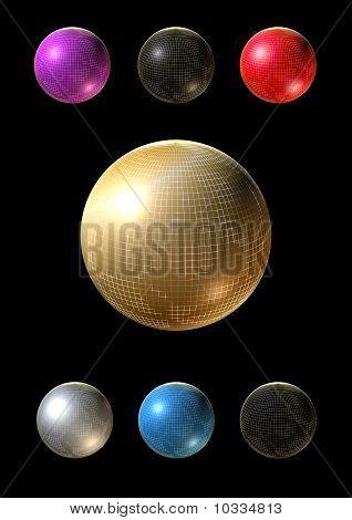 3D Colorful Balls Into Golden Grid